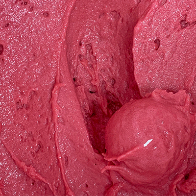 raspberry sorbet from Mashti Malones.